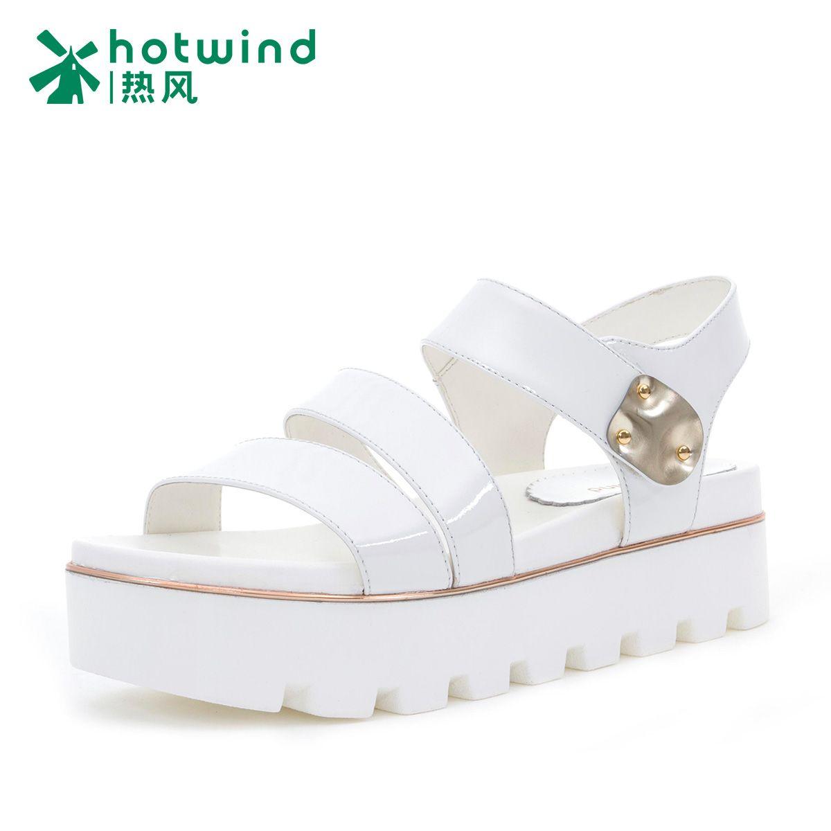 1cc08a99df61 2015 Summer Women Sandal Open-toe Velcro Ankle Strap Flat Chunky Sole Sandal  (Color
