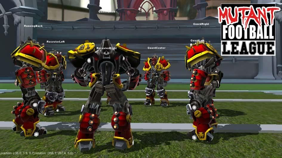 The Loose Huddle - a work in progress of in-game models #TheMFL #gameart