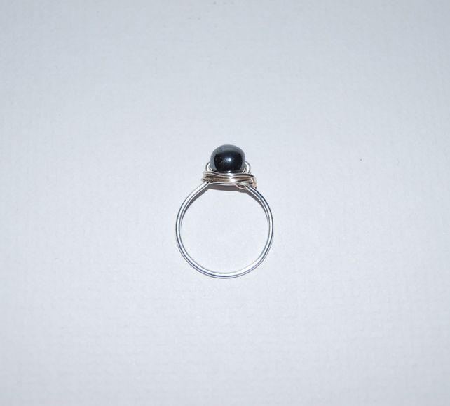 Hematite Wire Ring £4.00