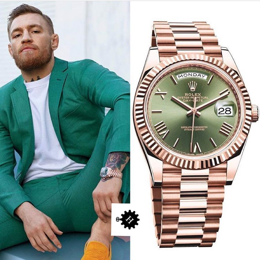 Conor McGregor loves to wear Rolex watch Sky Dweller Everose