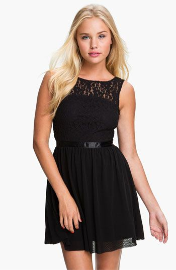 Frenchi® Lace Bodice Dress (Juniors) available at #Nordstrom ...