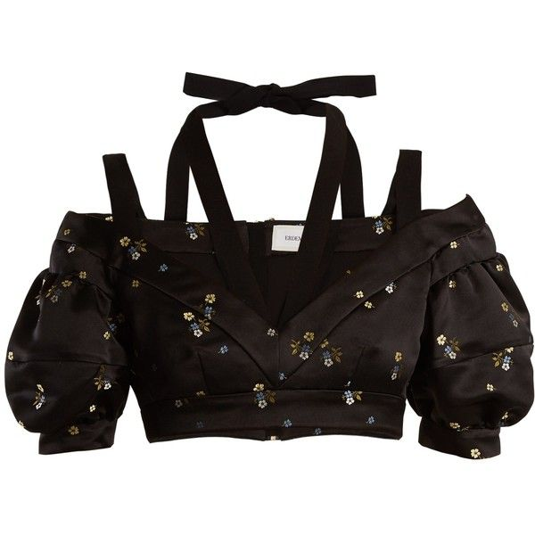 Debra cropped floral-embroidered duchess-satin top Erdem Cheap Price Outlet Clearance The Cheapest Pre Order Cheap Price Cheap Visa Payment Cheap Sale With Mastercard Td9nGK8Q