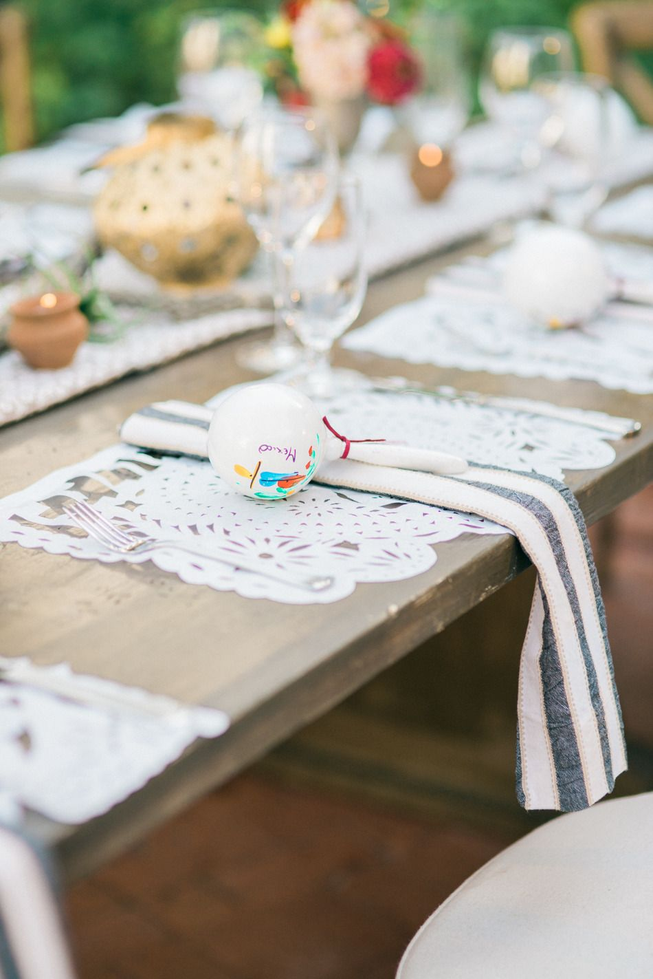La Jolla Mexican-Inspired Wedding | Wedding and Centerpieces