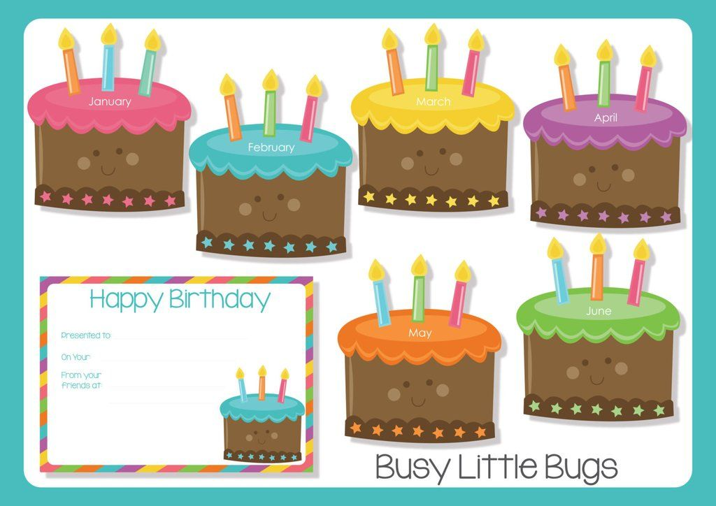 Birthday Cake Birthday Chart Inglese Pinterest Birthday Charts