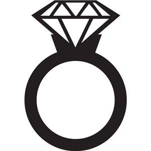 Silhouette Design Store - View Design #16493: diamond ring ...