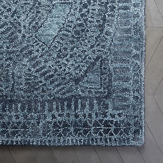 Maze Rug Shadow Blue 8 X10 At West Elm Rugs Home