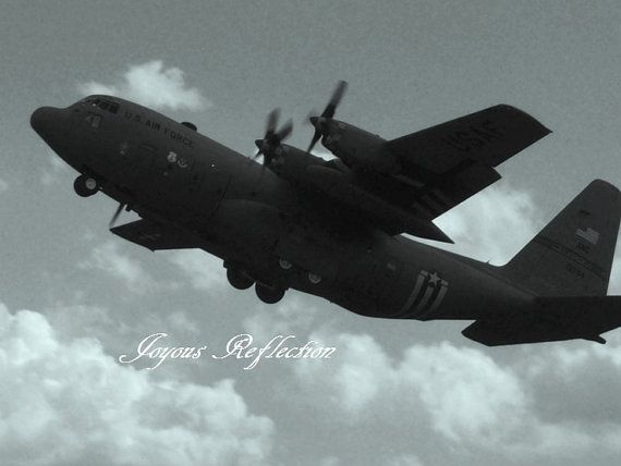 Digital Instant Download Black and WhiteAir Force Plane by JoyousReflection