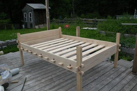 Osberg Style Bed With Images Camp Furniture Viking Bed
