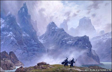 39 blue wizards journeying east 39 is a ted nasmith painting