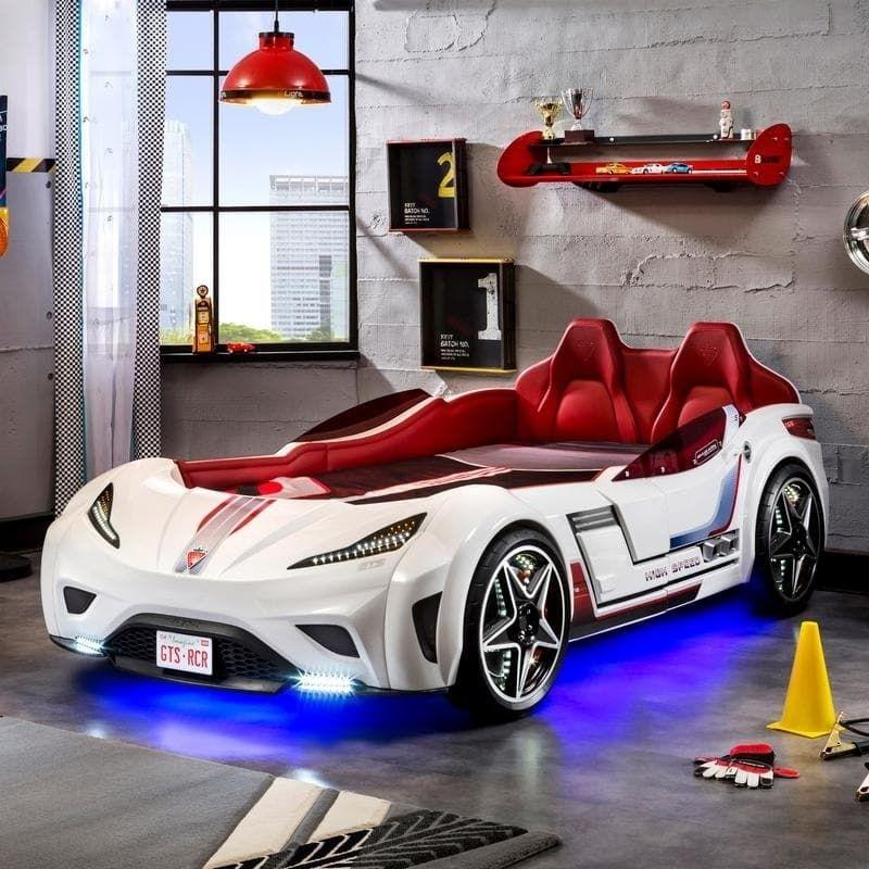 Cilek GTS Twin Race Car Bed (Blue) Race car bed, Car bed