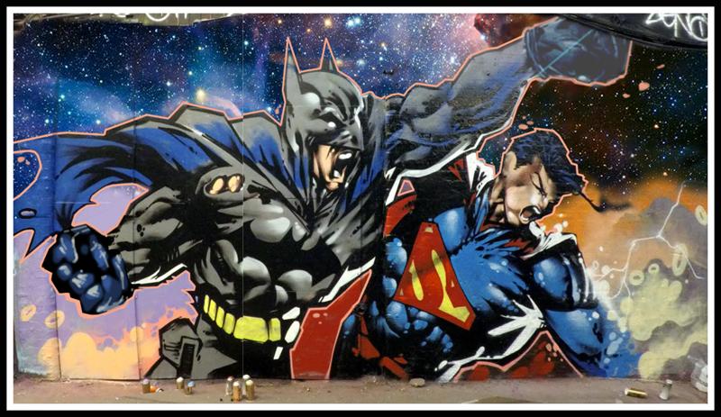 Batman Vs Superman By Graffiti Kings London