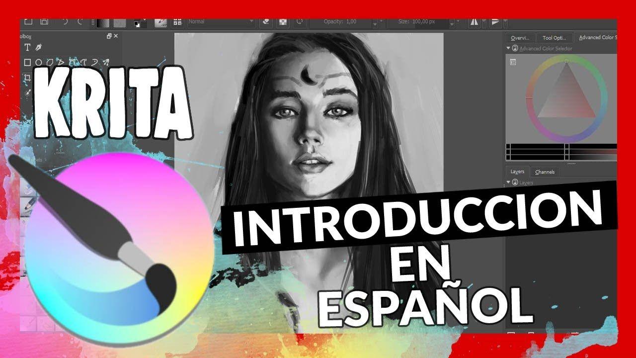 Introduccion A Krita En Espanol 2019 Tutoriales De Pintura Digital Pintura Digital Tutorial Sobre Arte Digital