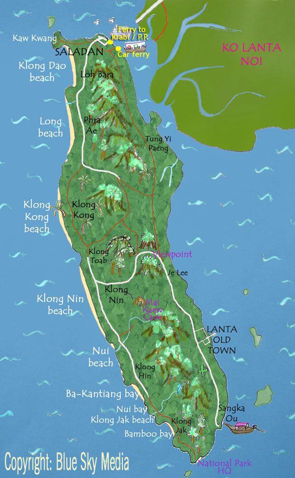 koh lanta beach map Google Search Thailand Pinterest Ko