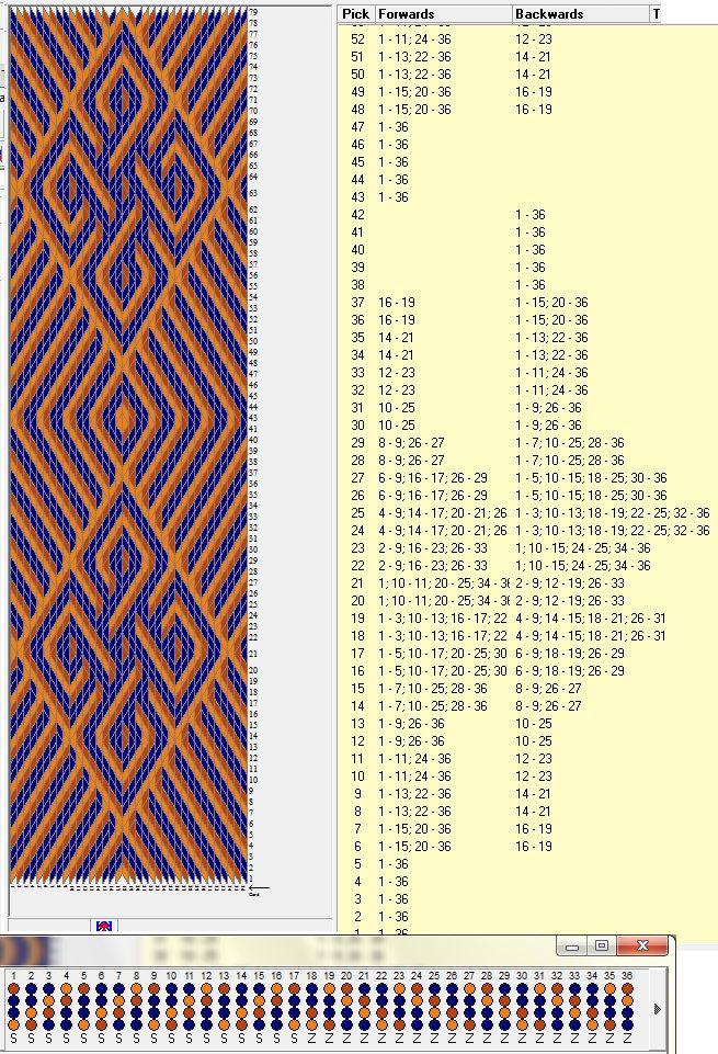 36 tarjetas, 3 colores, repite dibujo cada 42 movimientos // sed_78 ...