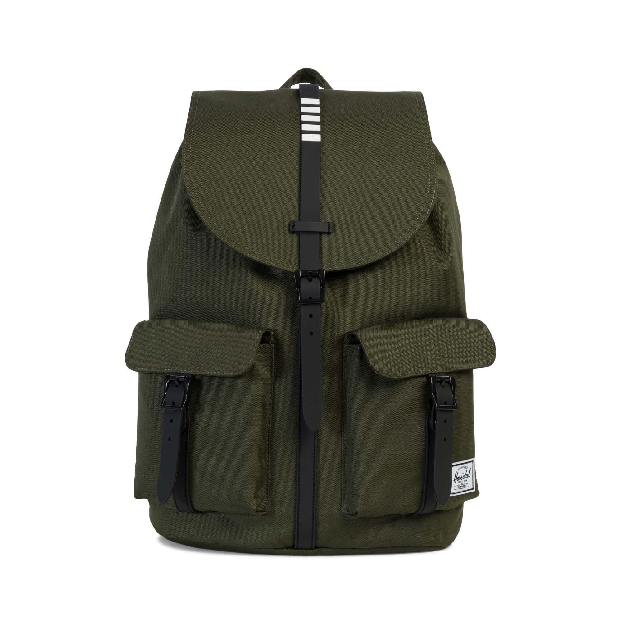 Herschel Supply Co. Dawson, Forest Night Black Rubber White Inset,One Size 6407bda530