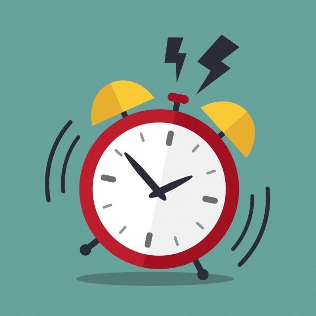 Retro Alarm Clock Ringing Vector And Png En 2020 Vector Retro Siluetas Vectores