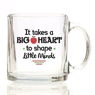 It Takes a Big Heart to Teach Little Minds - Coffee Mug 12 oz. - Perfect for Teacher Gifts, Teacher Assistant, For a Spanish, English, Math, Physical Education Teacher, Professor, Mentor, Friend