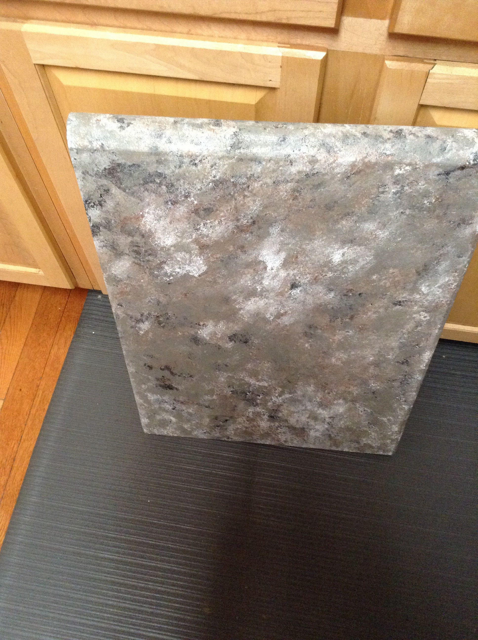 My Attempt At The Countertop Faux Granite Not Sure If I Love This
