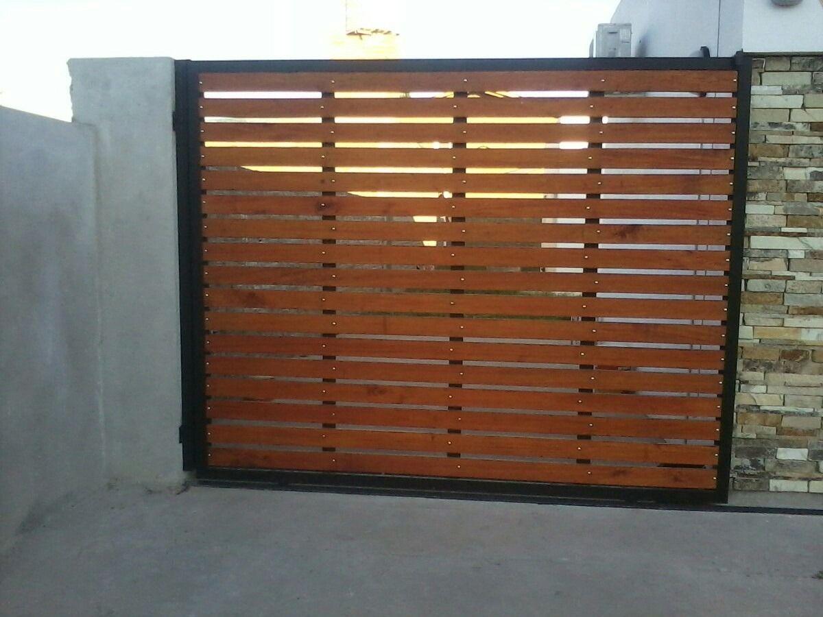Portones de madera y hierro combinados buscar con google for Puertas de madera para garage