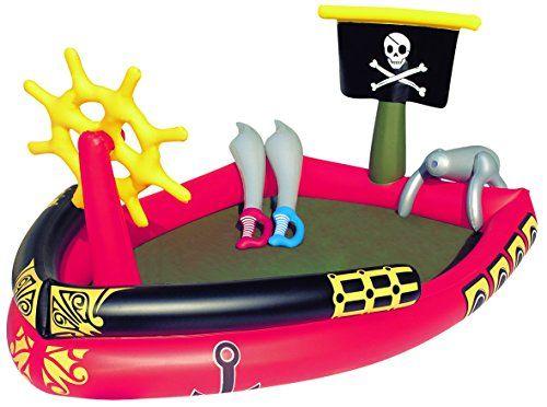 #piscina #hinchable infantil timón, 2 espadas, super cañón, pieza de reparación Con spray de agua Incluye timón hinchable y espadas hinchables