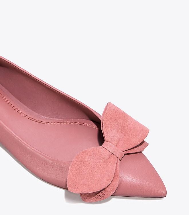 8fcfdbfae59 Tory Burch Rosalind Ballet Flat - Sea Shell Pink 10.5