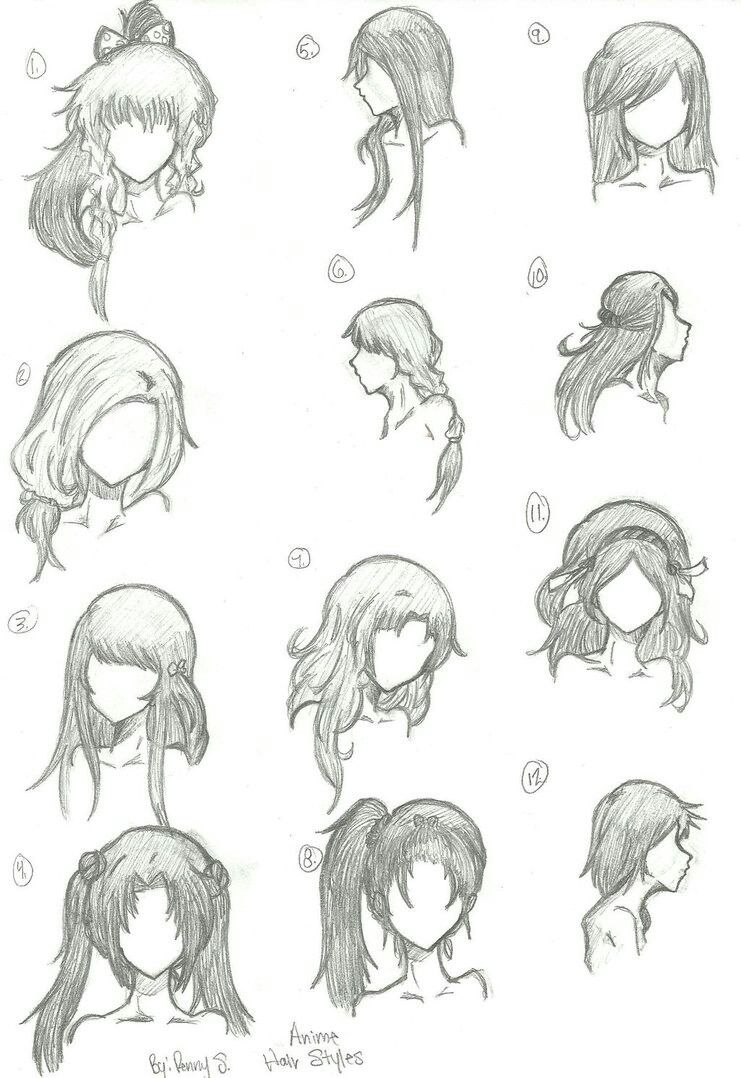 hair styles draw art