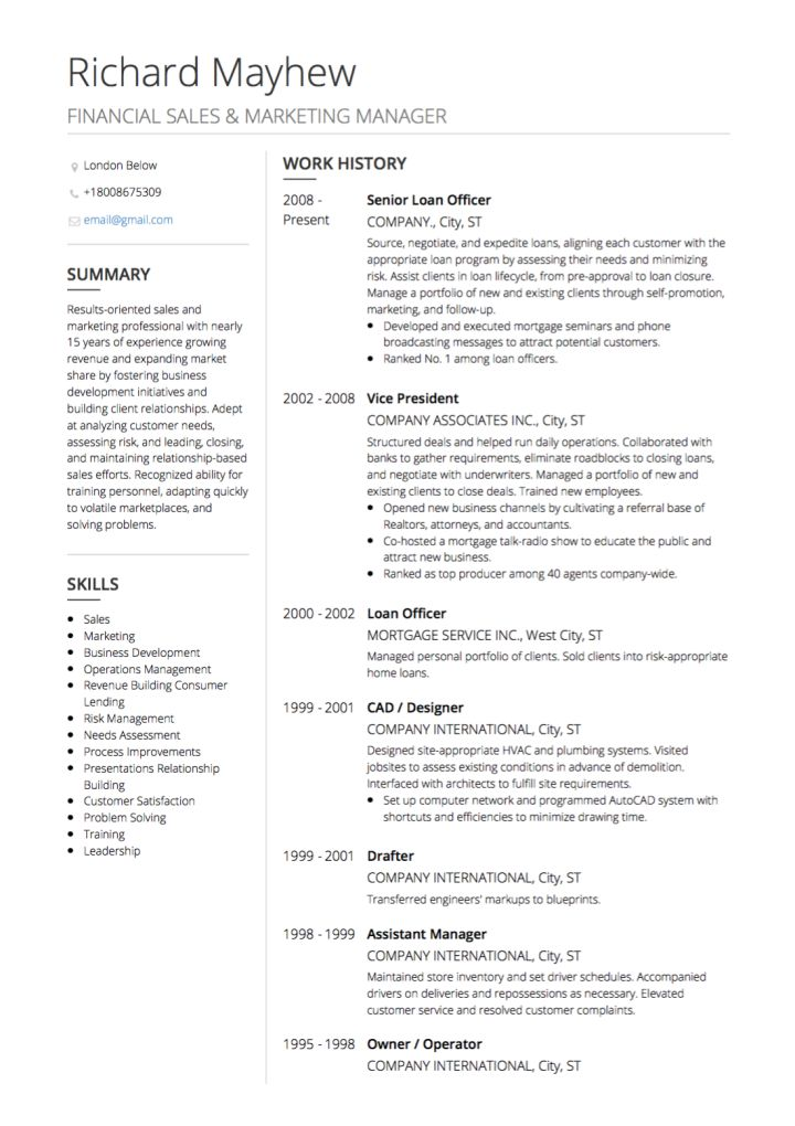 Resume Templates By Industry 3 Templates Example Templates Example Good Resume Examples Resume Writing Examples Job Resume Examples
