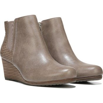 d3f051dcf651 Dr. Scholl s Women s Dillion Memory Foam Wedge Bootie at Famous Footwear