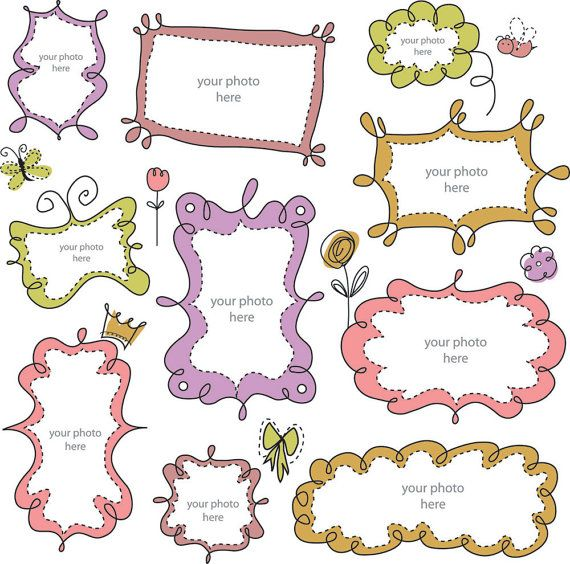 8a37d2350d7 Cute Cartoon lace 01 vector clip art set - INSTANT DOWNLOAD - high  resolution png