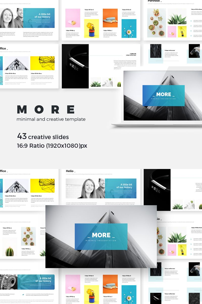 More Minimal Creative Presentation Keynote Template 74159