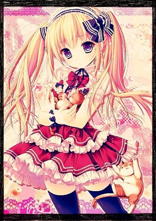 Fille manga cheveux blond hey pinterest fille manga - Photo manga fille ...