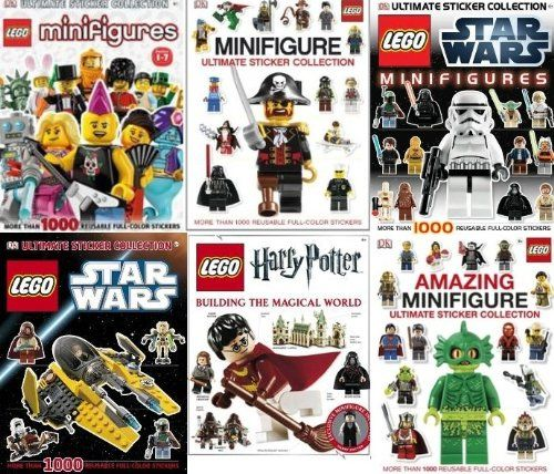 DK Lego Ultimate 6 Book Sticker Collection Star Wars Harry Potter ...