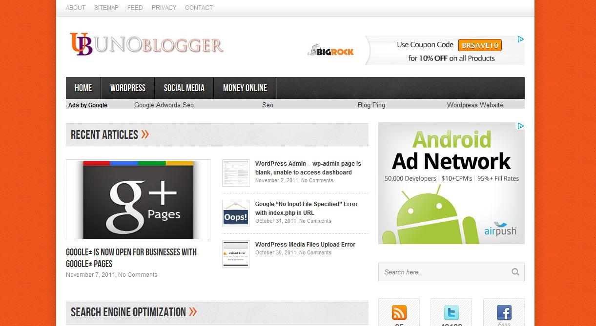 UnoBlogger - Website Development