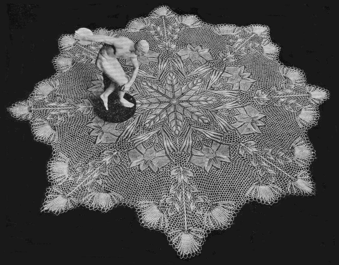 "Tulipanes (""Tulips"") | Knit lace, Lace knitting and Shawl"