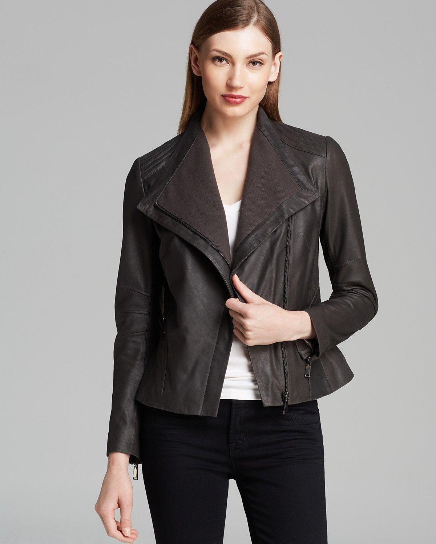 Elie Tahari Jacket Jeanette Drape Front Leather Women Jackets Bloomingdale S Elie Tahari Jacket Elie Tahari Leather Jackets Women [ 1500 x 1200 Pixel ]