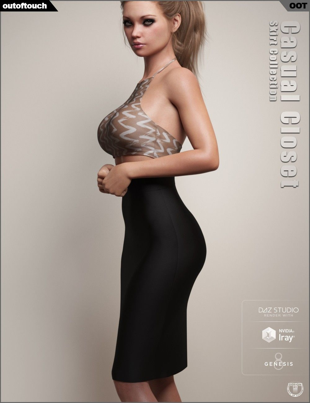 dForce Casual Closet Skirt Collection for Genesis 8 Female(s