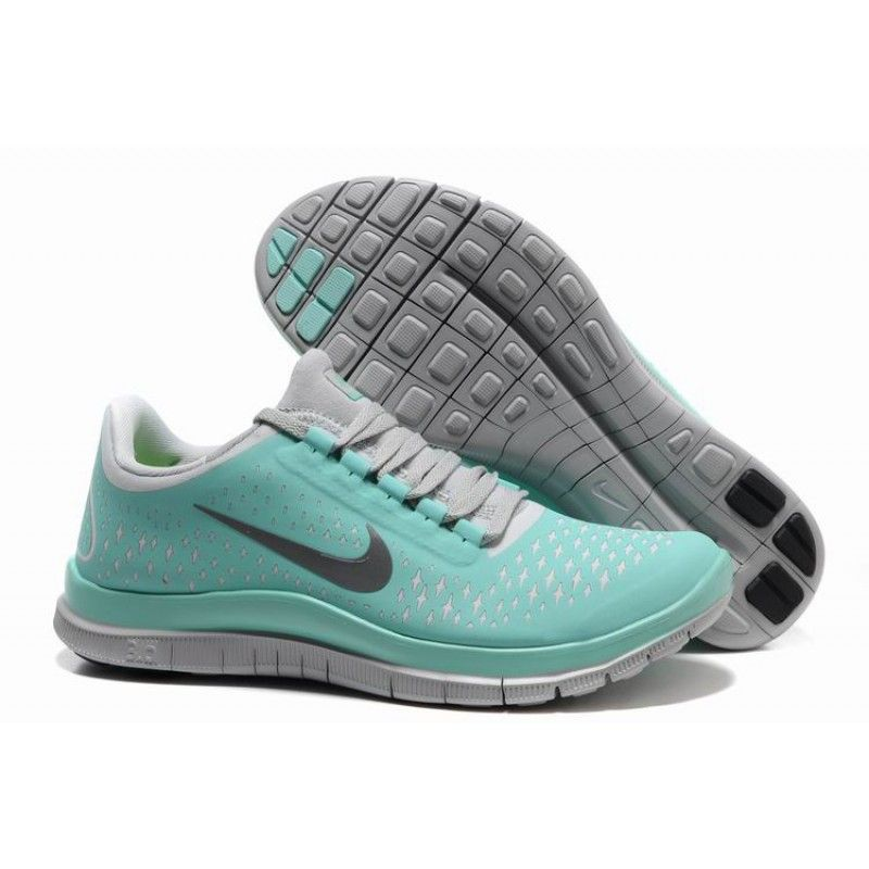 2012 New Arrival Nike Free 3.0 V4 Women's Running Shoes - Mint green/Grey.
