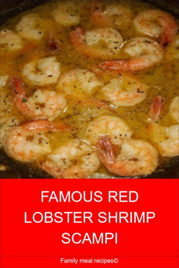 FAMOUS RED LOBSTER SHRIMP SCAMPI in 2020 | Shrimp recipes