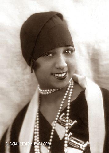 Josephine Baker, Style Icon  | c1920's by Black History Album, via Flickr....Flapper Mode in full effect