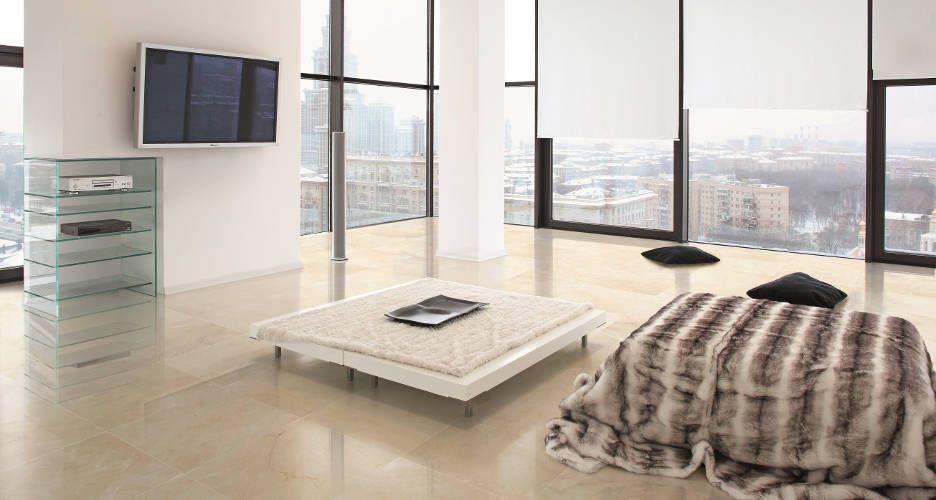 dormitorio con suelo de m rmol crema marfil suelo piedra