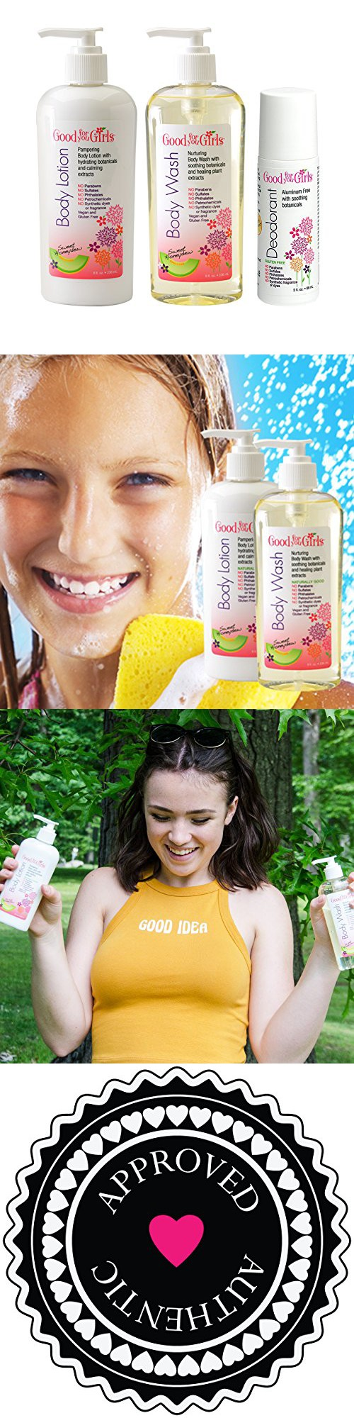 Good For You Girls Body Care Trio Wash Lotion Soap Ampamp Glory Irresistibubble Gift Set Deodorant