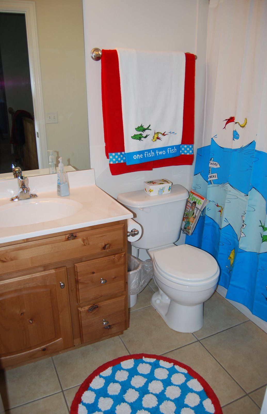 Funny Kids Bathroom Ideas With White Wall Paint Color And Wood - Toilet mat set for bathroom decorating ideas