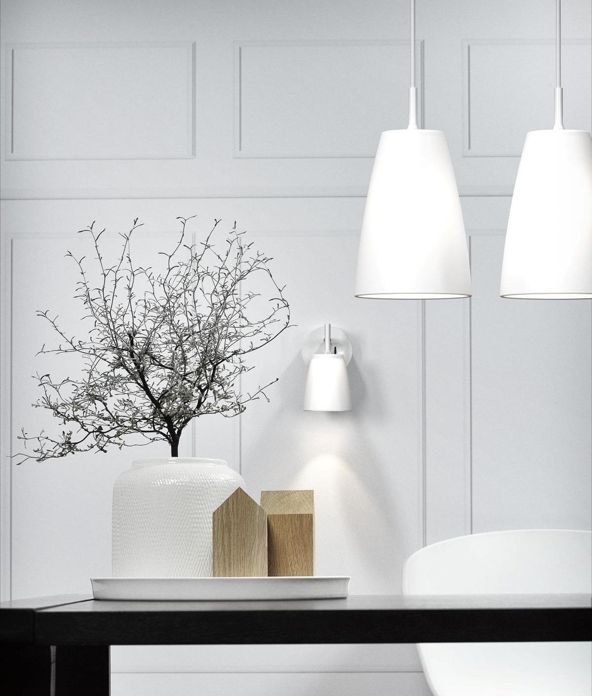 White Opal Glass Pendant - Two Sizes   Ceiling Lighting ...