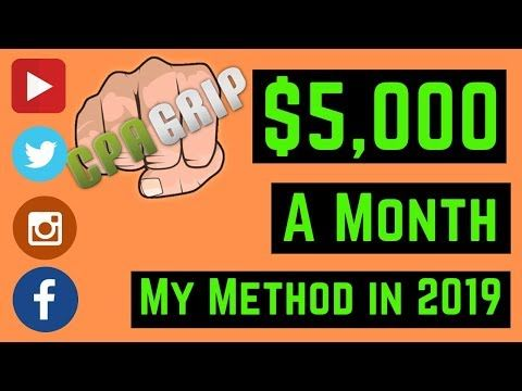 Make $5,234 A Month From CPAGRIP My Method | Make money