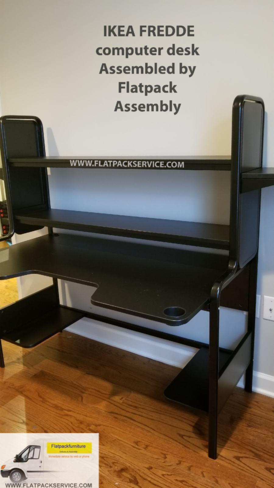 Ikea Fredde Computer Desk Ikea Assembly Ikea Furniture Assembly Ikea