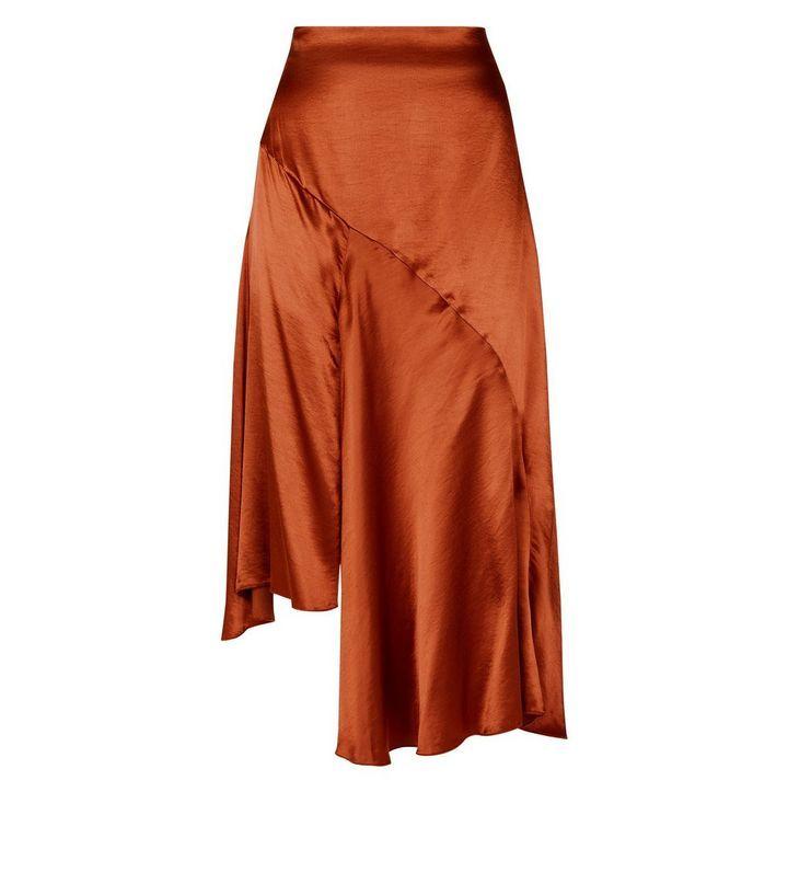 numerousinvariety preview of pretty cool Brown Asymmetric Satin Midi Skirt | New Look | Satin Skirt ...