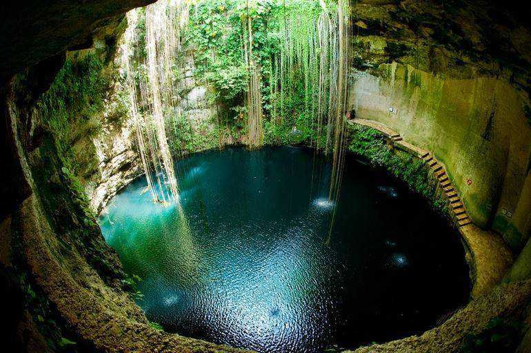 Natural Underground Pool In Yucatan Mexico