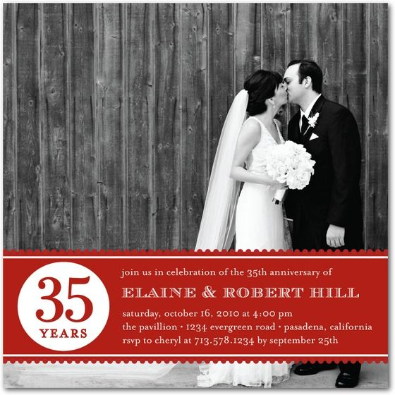 Anniversary Party Invitations: Wedding Stationery