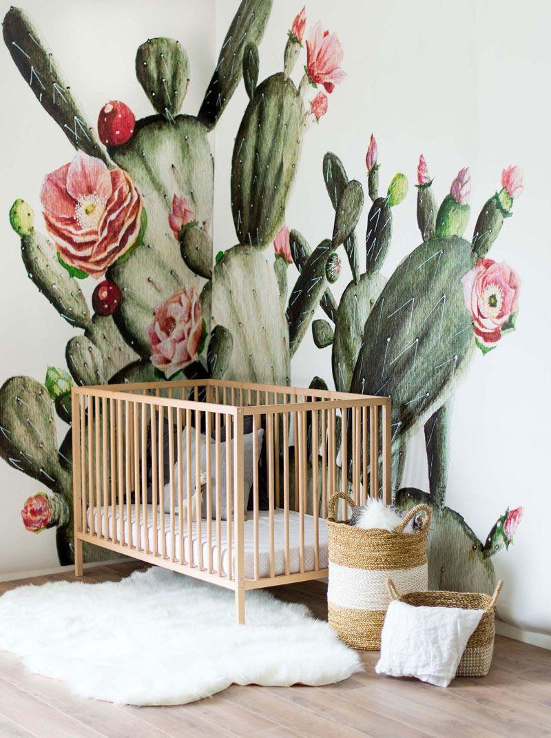 Cactus decor in nursery and kids rooms nursery