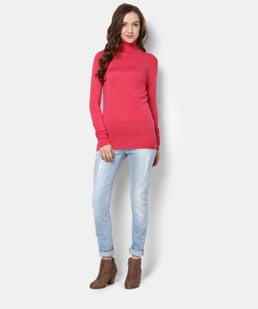 Yepme Lexi Sweater - Pink                                      #winter #wardrobe #casual #highneck #fall #womenfashion #trend #cool #stylish #outfit #warm